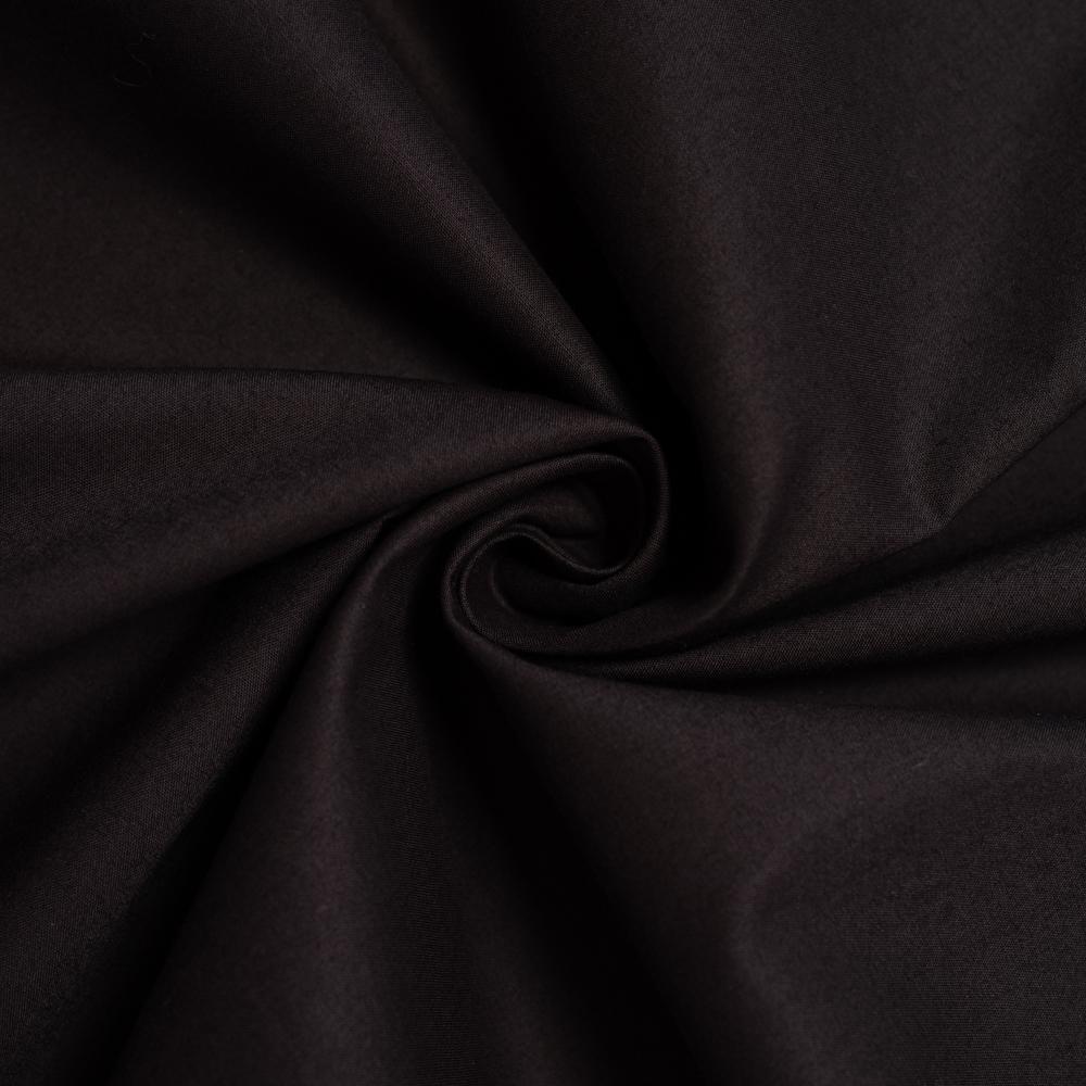 Soft Black Solid Poplin