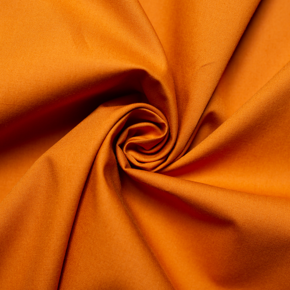 Orange Solid Poplin