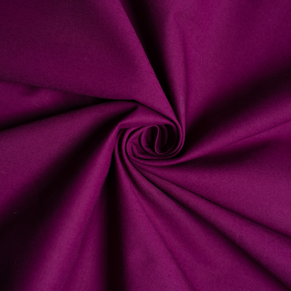Dark Plum Solid Poplin