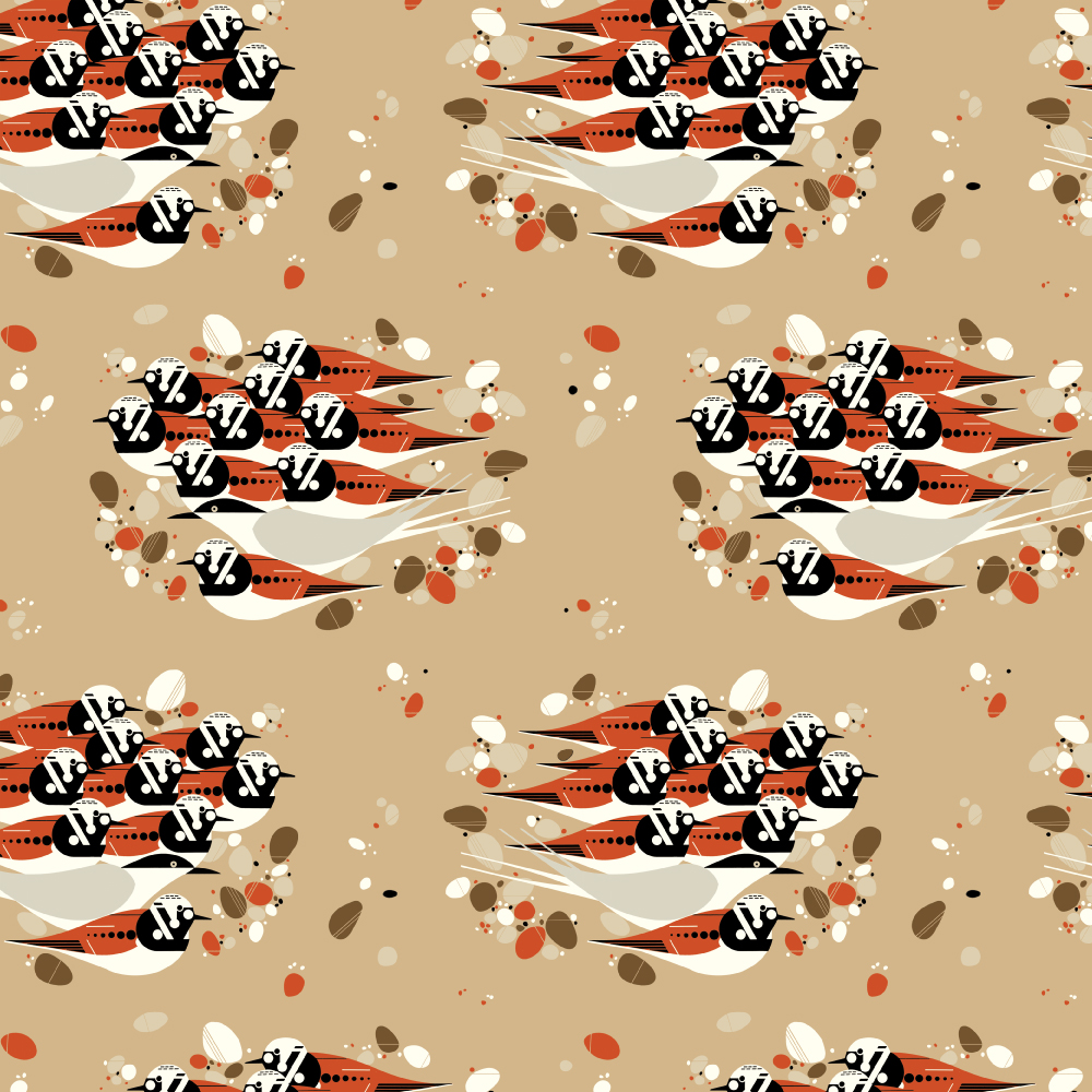 Turnstones Barkcloth