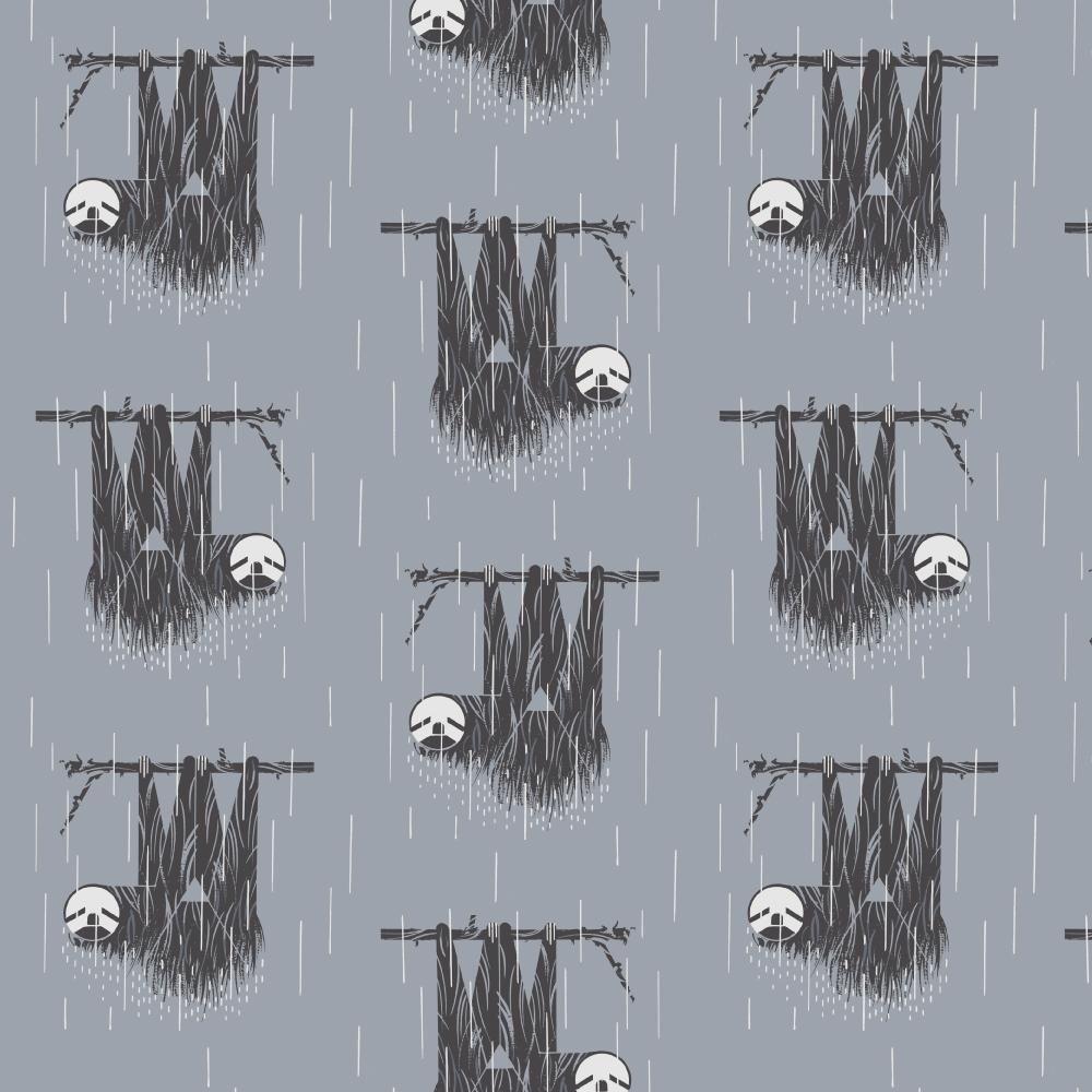 Sloth Barkcloth