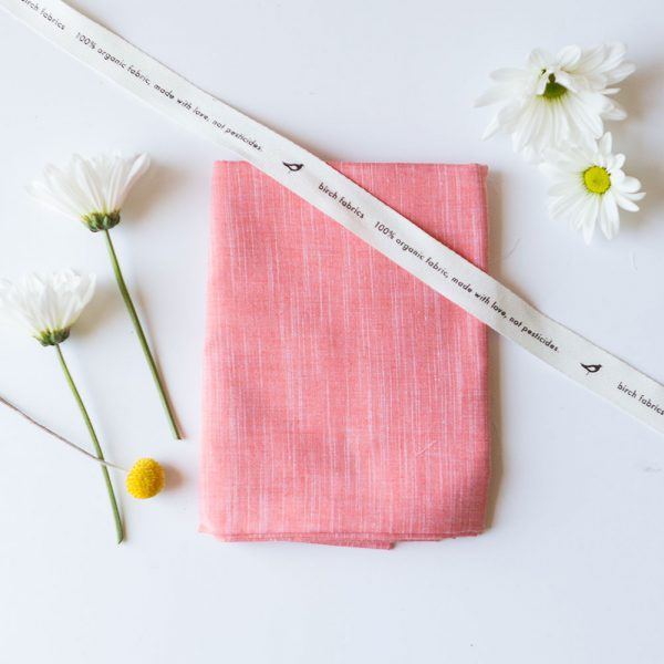 YARN DYED CHAMBRAY in CORAL