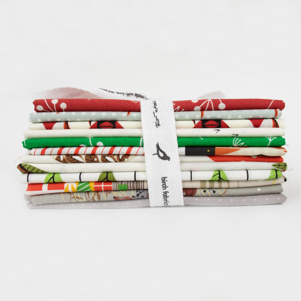 Charley Harper Holidays Fat Quarter Bundle, 10 Total