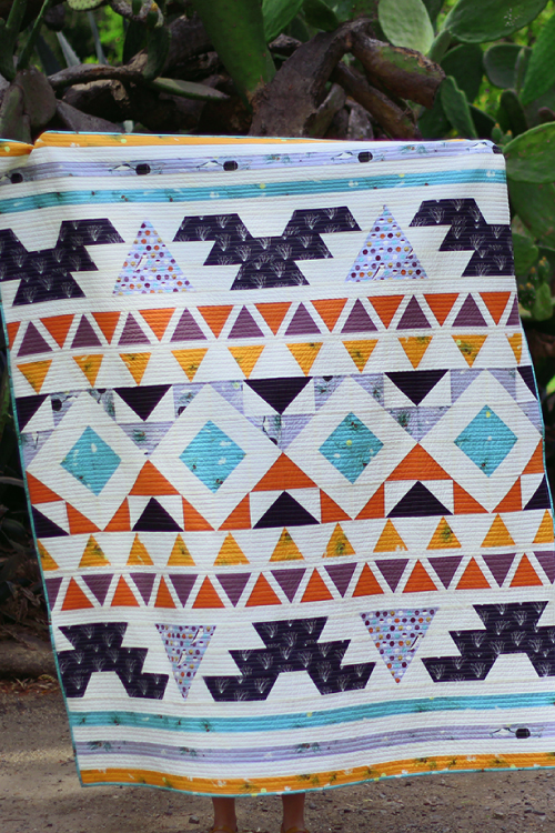 """Fall Fleeting Warrior Pattern"" Free Quilt Pattern designed by Suzy Quilts from Suzy Quilts! brought to you by Birch Fabrics"