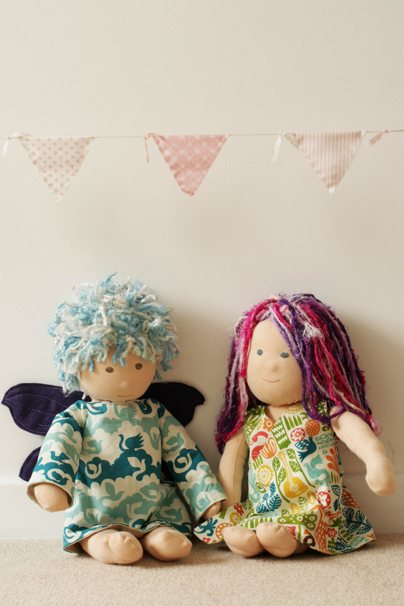 The Crafty Kitty | Freyja fairy dress and Lily wraparound, reversible dress (for dolls)