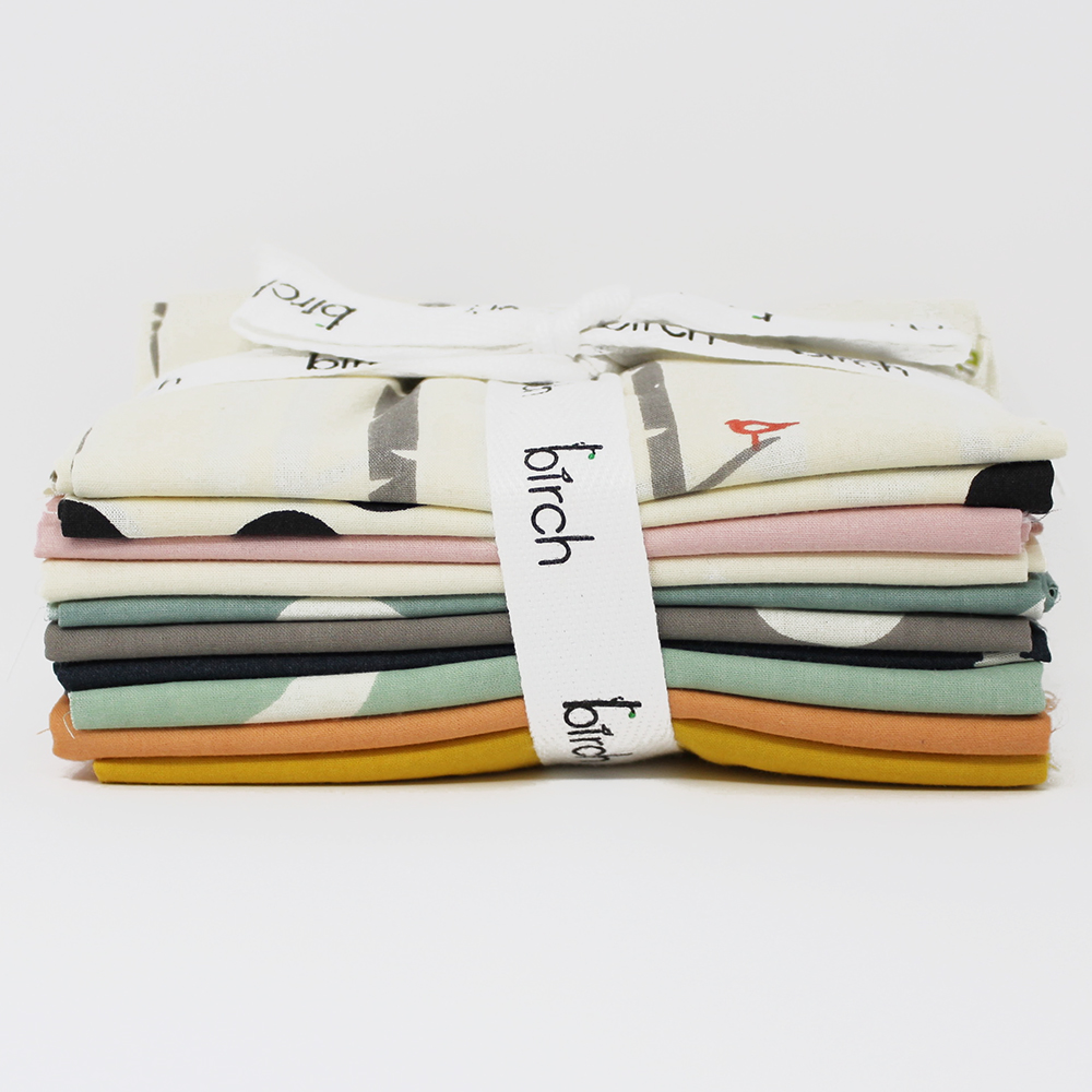 BIRCH BASICS PRECUT FAT QUARTER BUNDLE | 10 SKUS