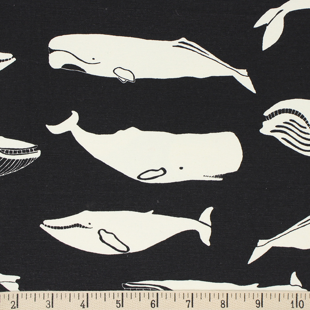 WHALE POD in BLACK CANVAS