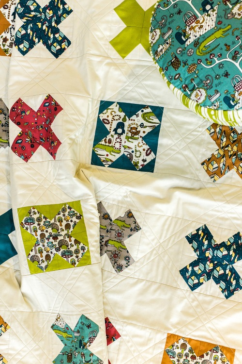 """Perfect Picnic Quilt"" Free Scrap Quilt Pattern designed by Ansley Carnevali from Birch Quilts"