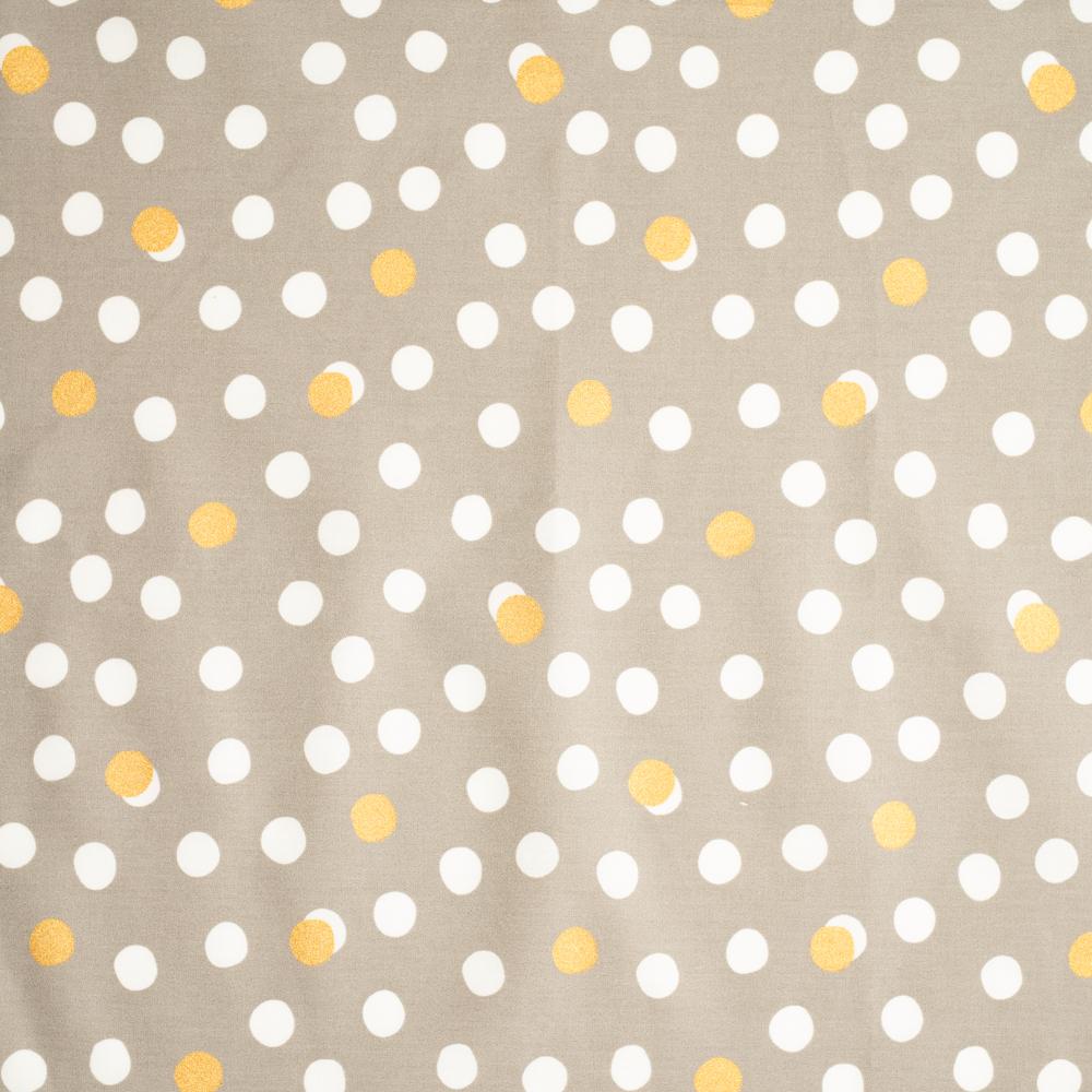 Mochi Dot Shroom / Metallic Gold Poplin