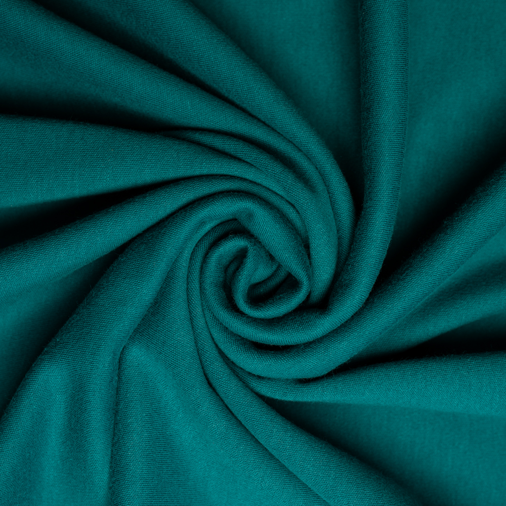 Teal Solid Interlock Knit