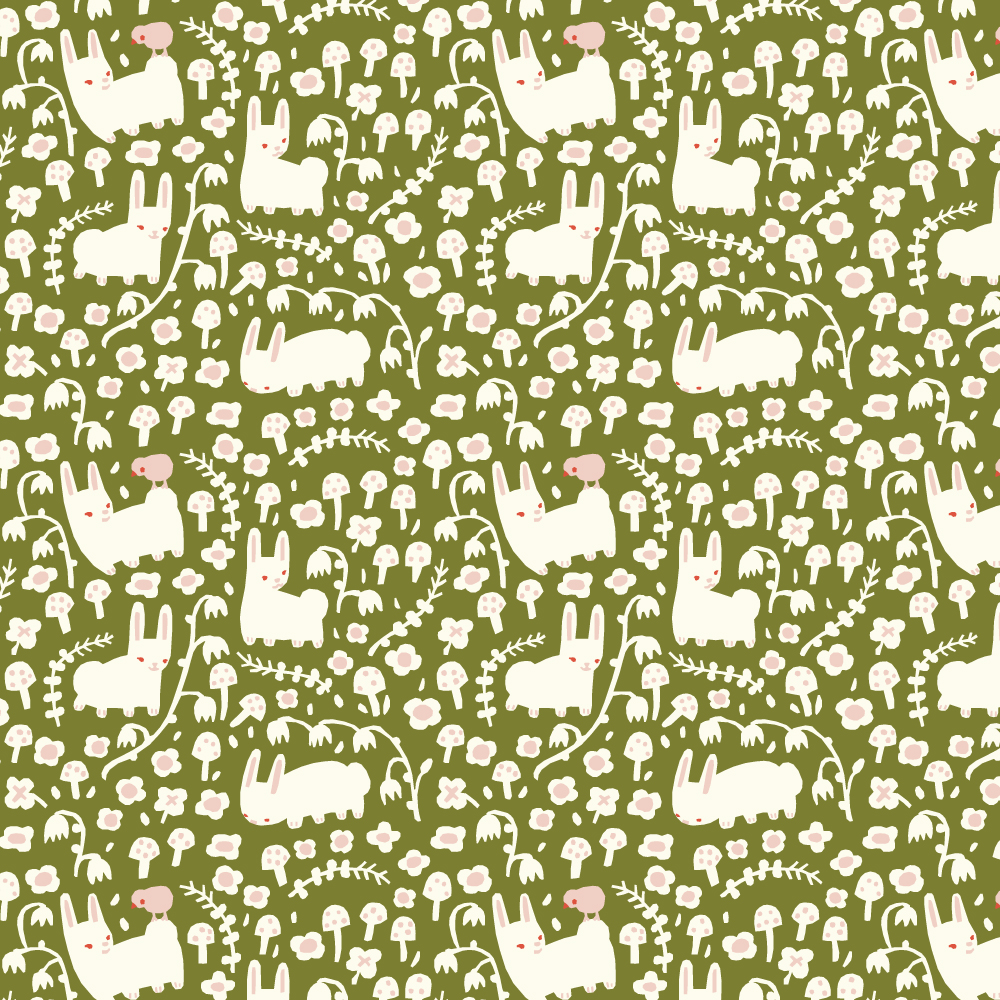 BUNNY MEADOW MOSS INTERLOCK KNIT