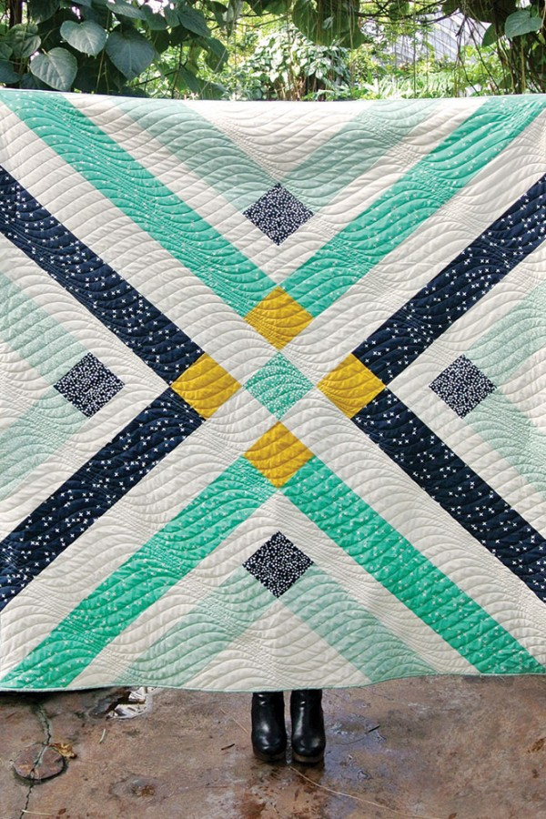 """Retro Plaid Quilt"" Free Quilt Pattern designed by Suzy Williams from Suzy Quilts! brought to you by Birch Fabrics"
