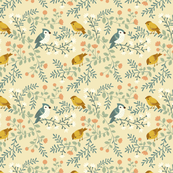 BIRDS AND BRANCHES CREAM