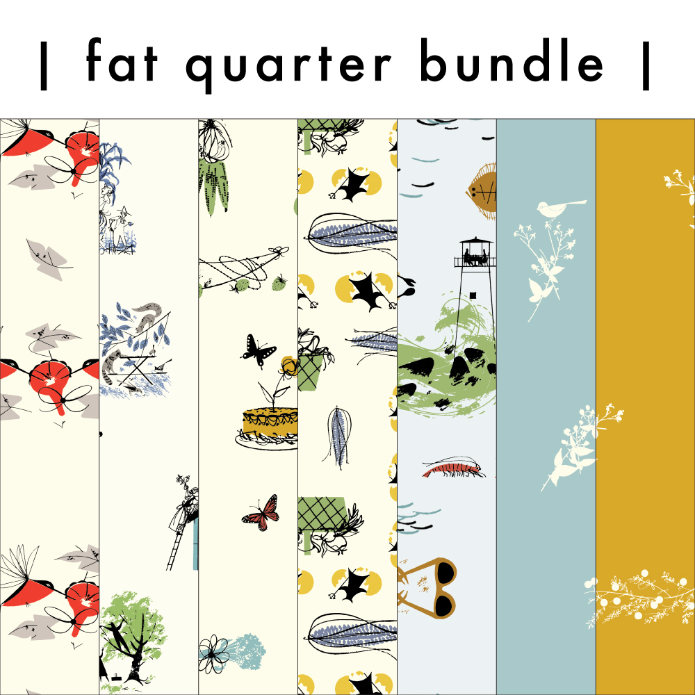 CHARLEY HARPER DINNER FOR TWO FAT QUARTER BUNDLE, 7 TOTAL