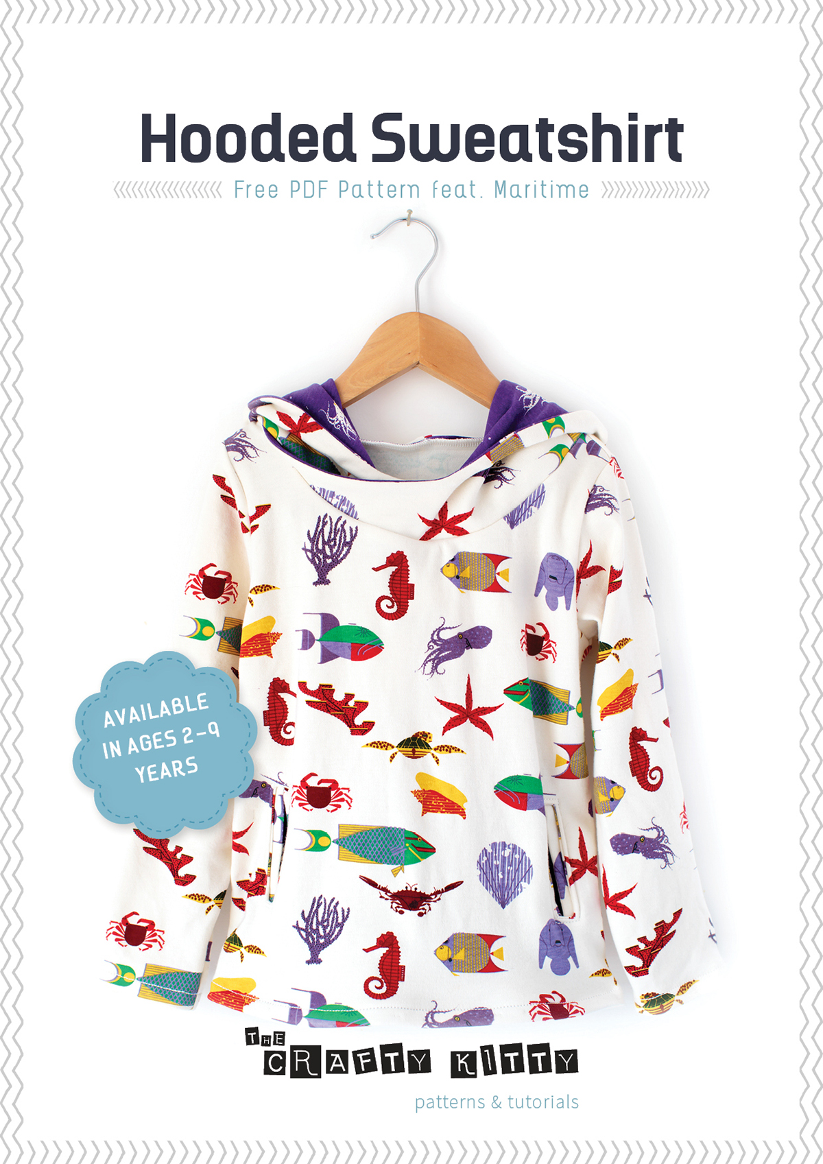 free hooded sweatshirt pattern | the crafty kitty