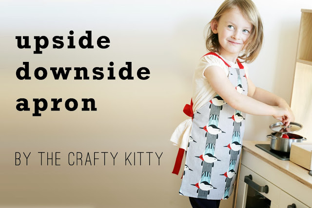The Crafty Kitty | Upside Downside Reversible, Kid's Apron
