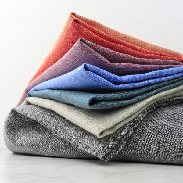 YARN DYED LINEN CASE PACK, 7 TOTAL