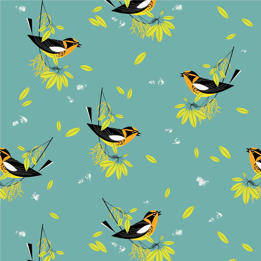 Blackburnian Warbler Poplin