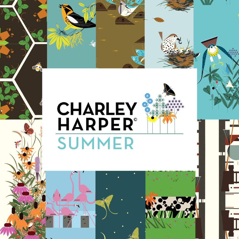 Charley Harper Summer Fat Quarter Bundle, 10 Total