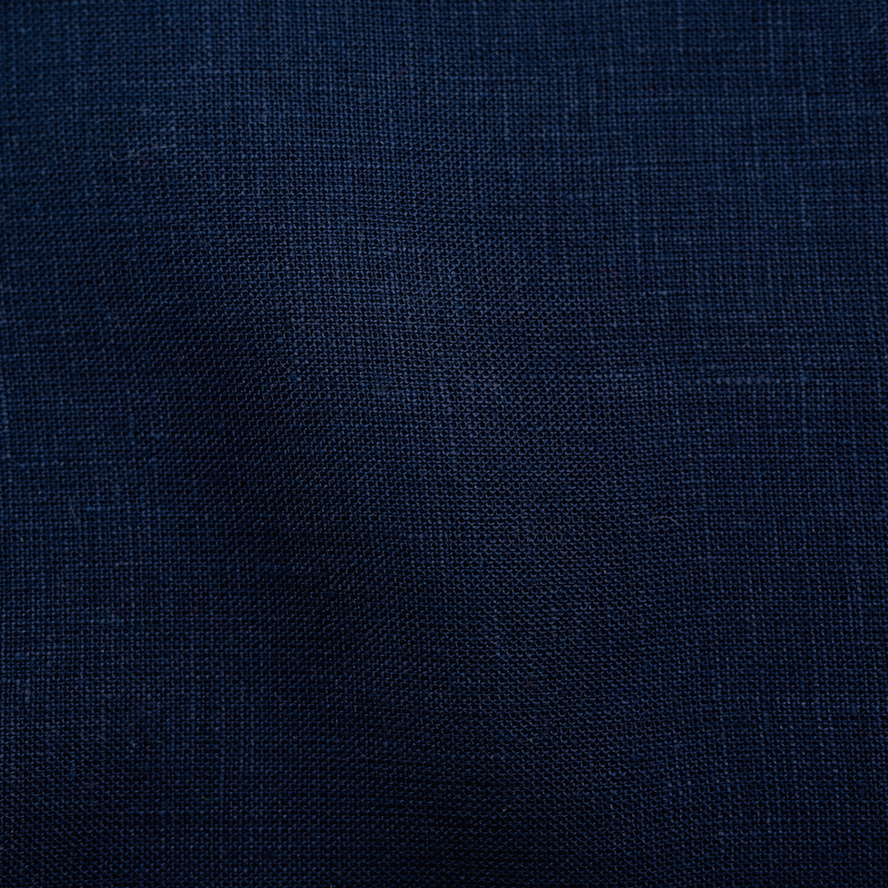 Navy Solid Linen