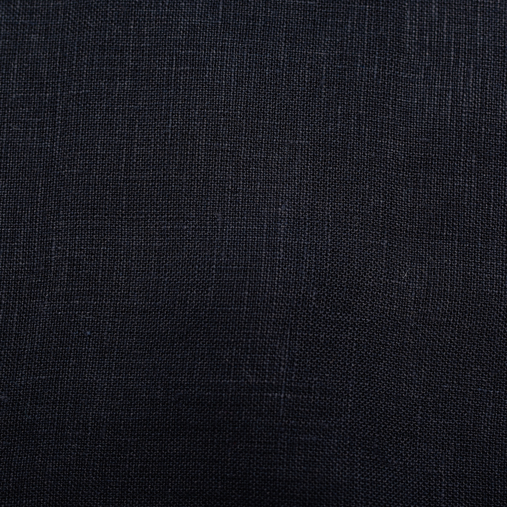 Black Solid Linen
