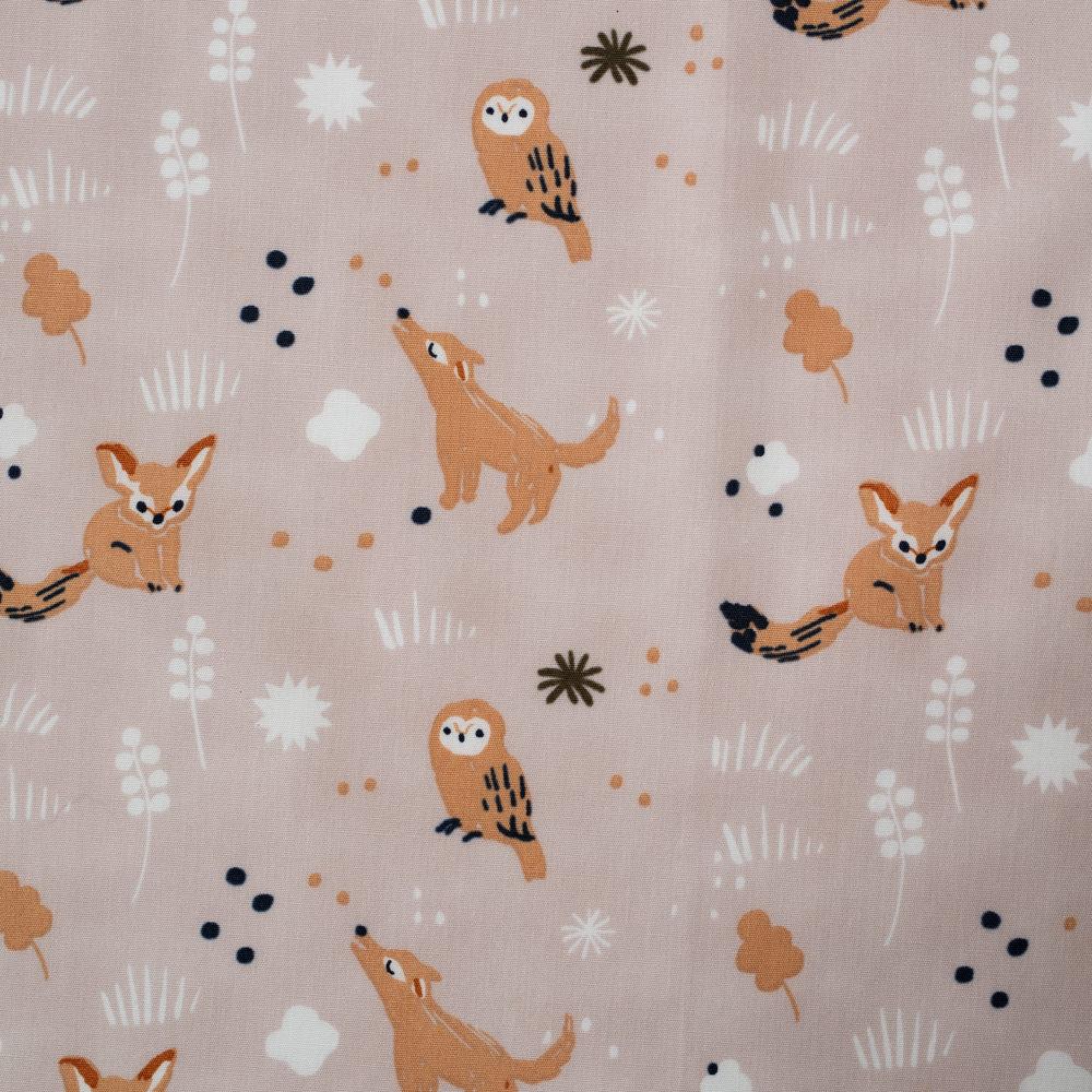 Dreamer Lullaby Slate POPLIN by Jenny Ronen from Birch Fabrics