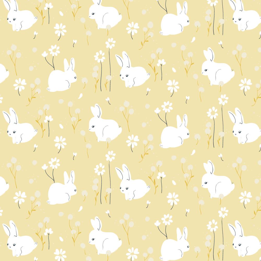 White Bunny Poplin
