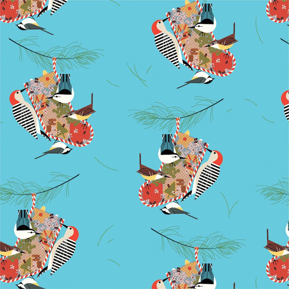 Backyard Birds Poplin