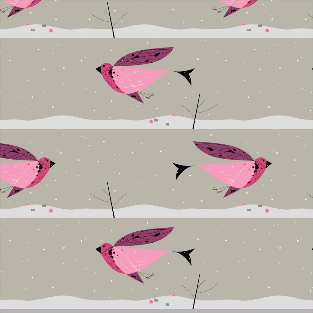 Purple Finch Poplin