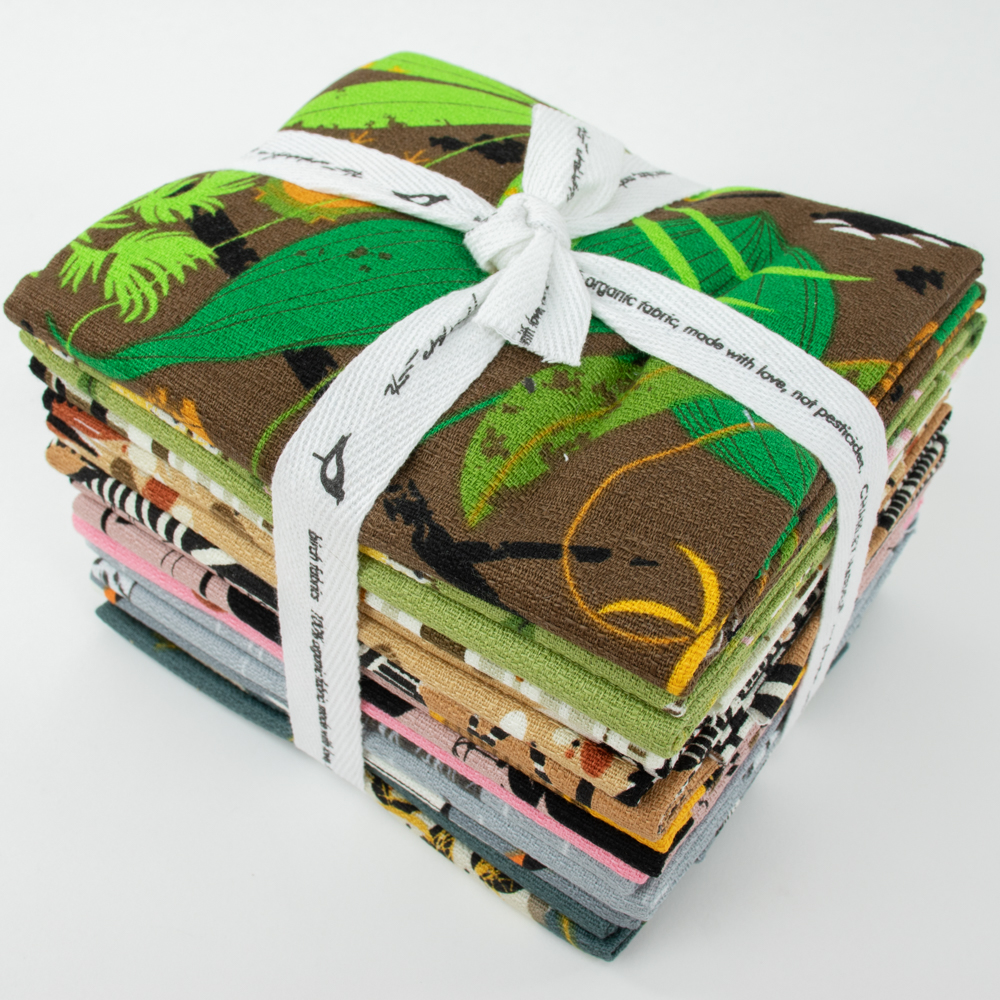 Charley Harper Barkcloth Fat Quarter Bundle, 10 Total
