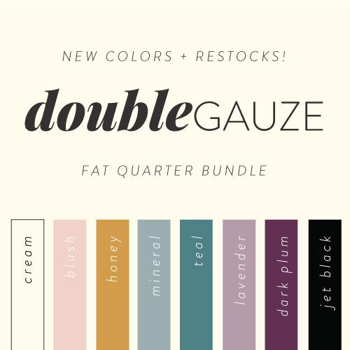 Solid Double Gauze 2020 Fat Quarter Bundle, 8 Total