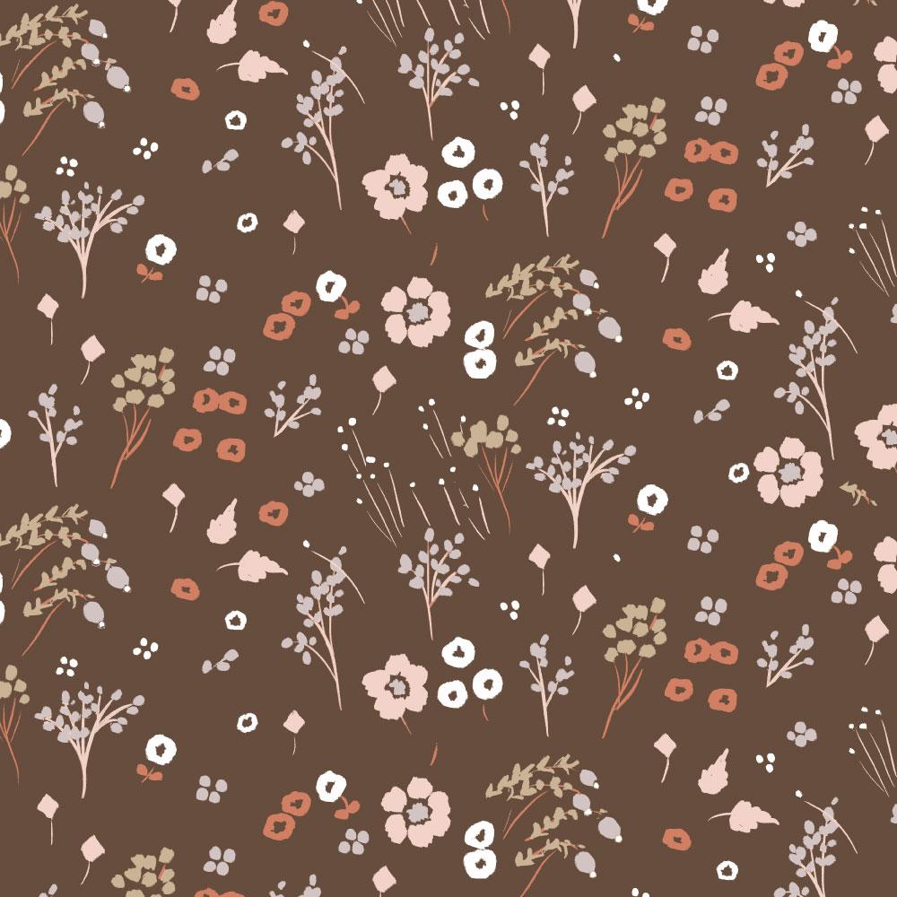 Farrah Floral Bison Jersey Knit