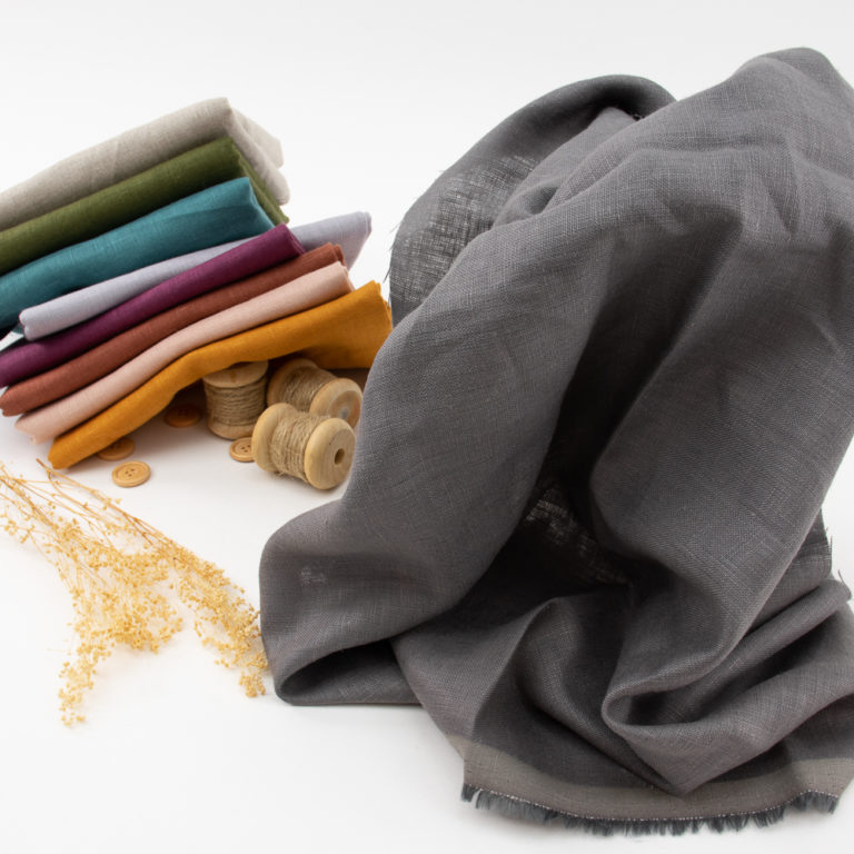 Charcoal Solid Linen
