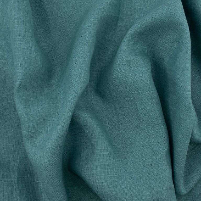 Pacific Blue Solid Linen