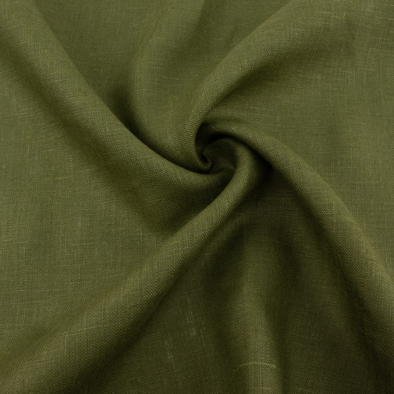 Jungle Green Solid Linen