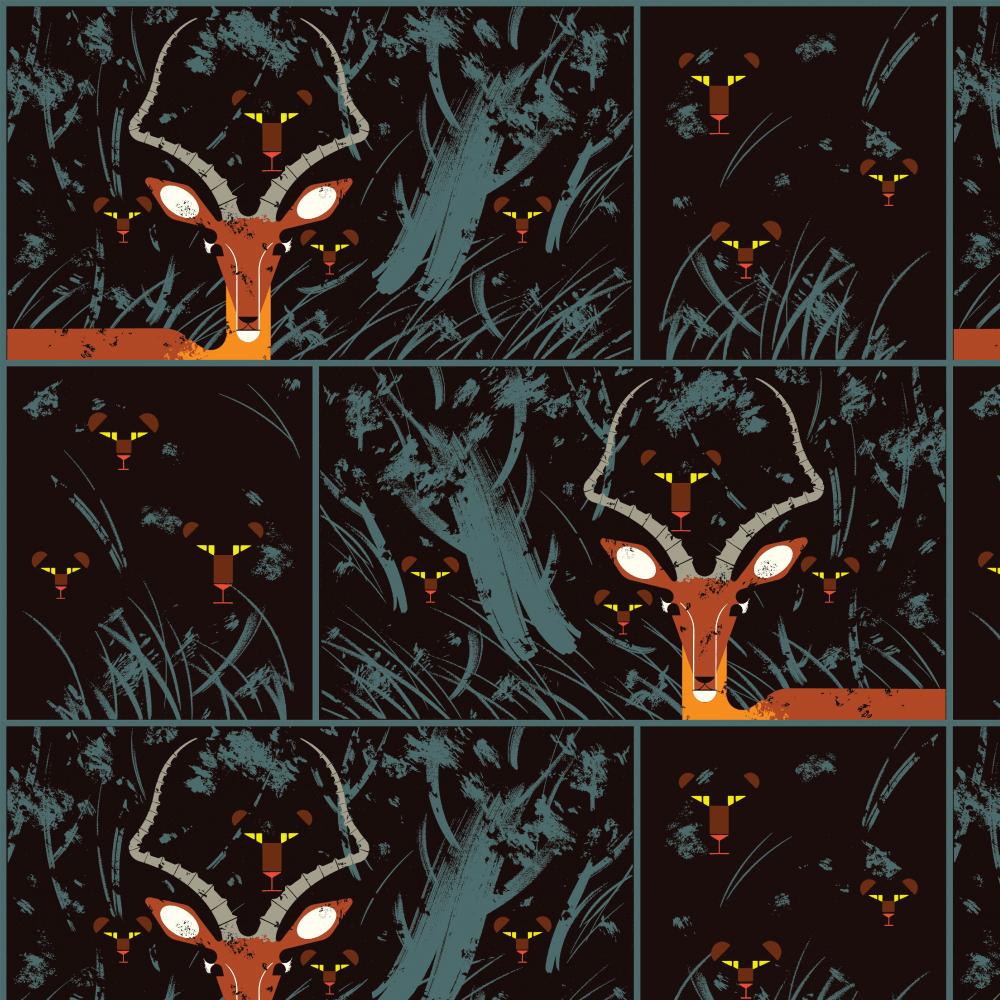Night Gazelle Poplin