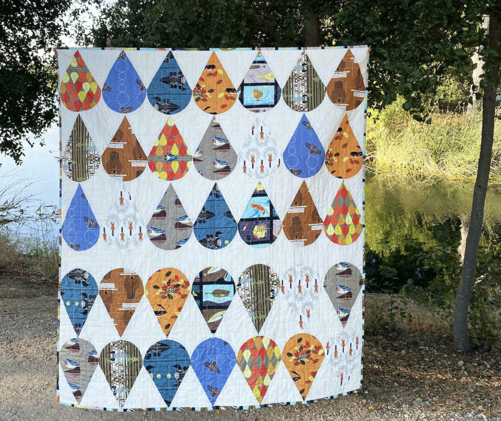 """Octobermania"" a Free Row Quilt Pattern designed by & from Birch Fabrics"